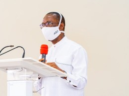 Governor of Delta, Senator Dr. Ifeanyi Okowa Speaking during the Thanksgiving Serviceto markhis fifth year in Office on May 29, 2020