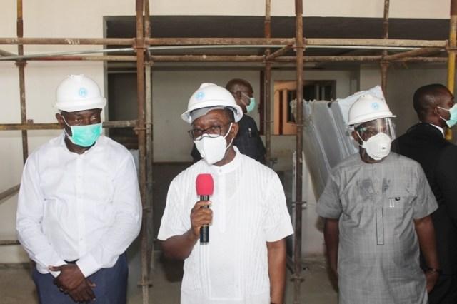 Okowa Inspects Delta Secretariat
