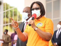 Wife of the Delta State Governor, Dame Edith Okowa addressing Coalition of Non Governmental Organizations in her office to mark the International Day for Elimination of Violence Against Women at Government House Asaba on Thursday, November 26, 2020 (Pics: Norbert Amede)