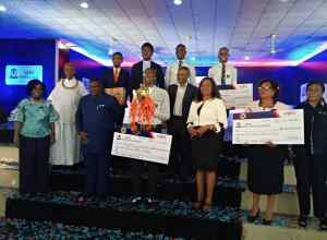 Winners of 2020 SEPLAT Pearls Quiz St Michael College Benin City receiving their Prize