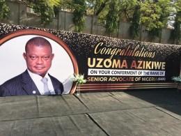 Congratulations Uzoma Azikiwe SAN