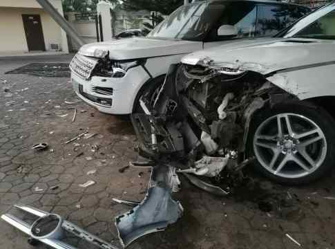 Vehicles Allegedly Destroyed by Perez Omoun
