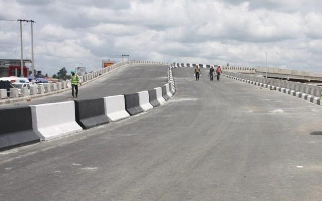Effurun-Warri Flyover Under-Construction in April 2015