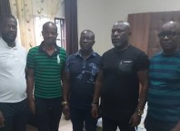 Picture: Engr. Lawrence Lokiri, Outgone President, Hon Tommien Kelekumor, Zonal Coordinator, Hon. Kurata Akassa, elected President, Hon. Tolu Amatu, Pioneer President and Mr. Benjamin Kurumah, Ondo state Coordinator after the election of the Niger-Delta Peace Keeping Volunteer Front, NDPKVF.