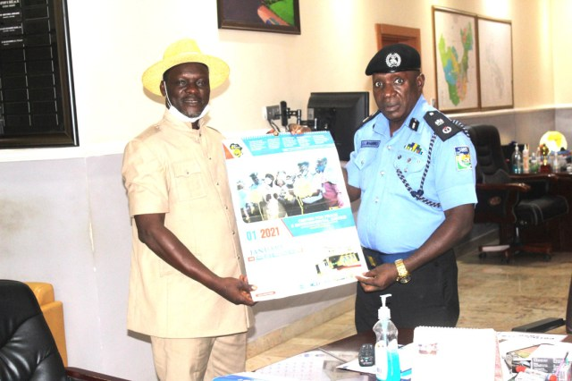 Delta Police Commissioner and Members of CEPEJ During a Familiarization Visit to the Police Headquarters in Asaba