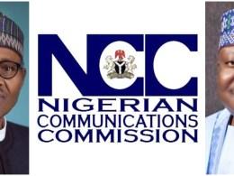 Picture Inset: President Muhammadu Buhari, NCC Logo and Senate President, Ahmad Lawan