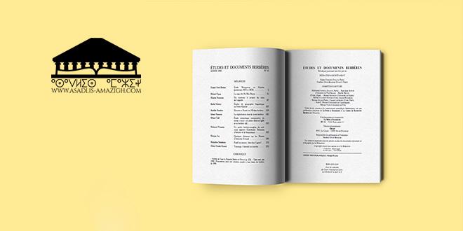 Etudes et documents berbères n14 1996