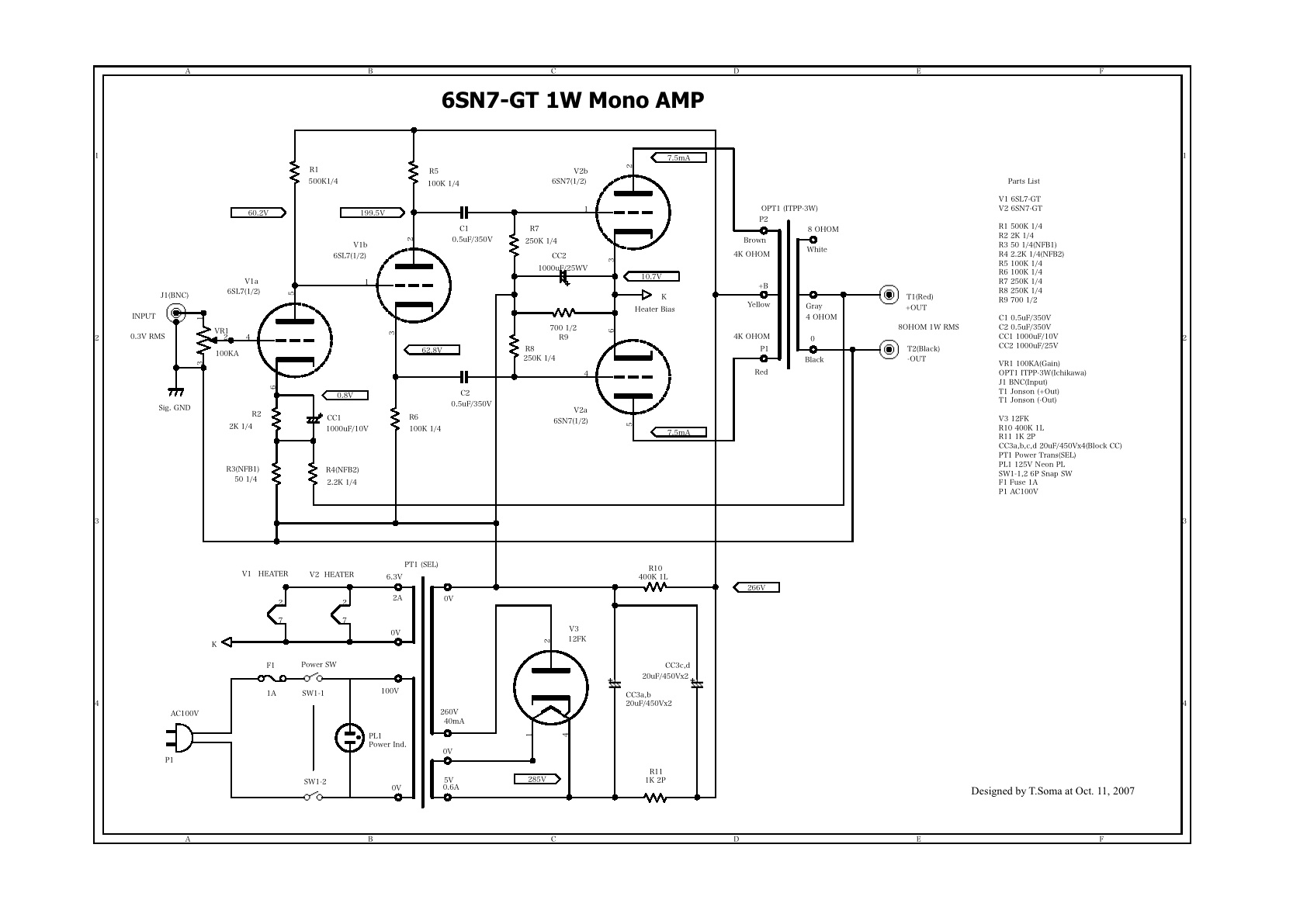 Amplifier 6l6 Se Schematic
