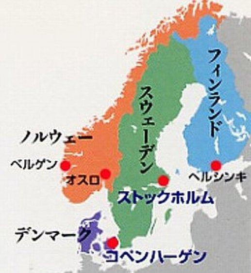 「北欧の地図」の画像検索結果
