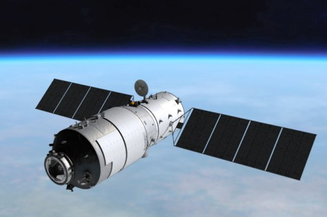 中国の宇宙実験室「天宮1号」のイメージ=China Manned Space Agencyのホームページから