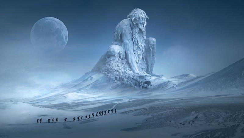 Fantasy ice man