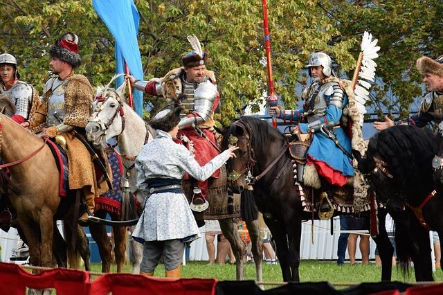 Armed men on horseback
