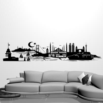 Wandtattoo Istanbul Silhouette