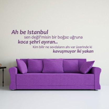 Wandtattoo Ah be Istanbul Spruch