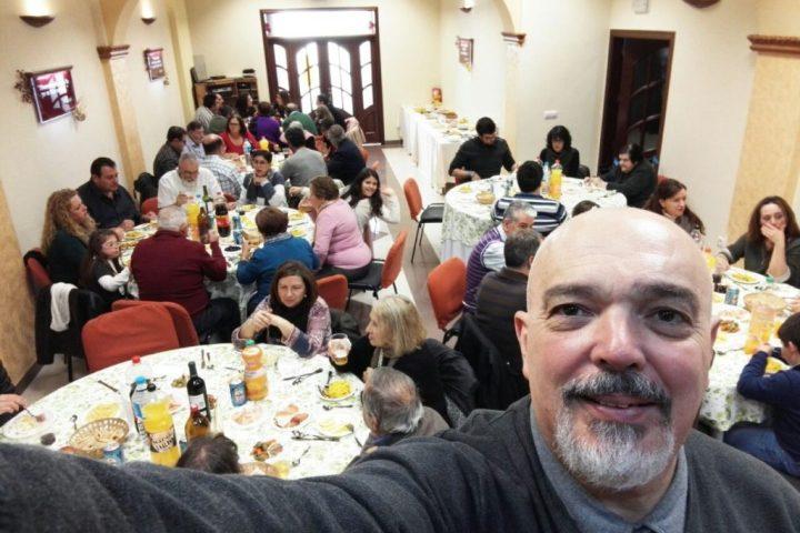 comida navidad iglesia evangelica moron