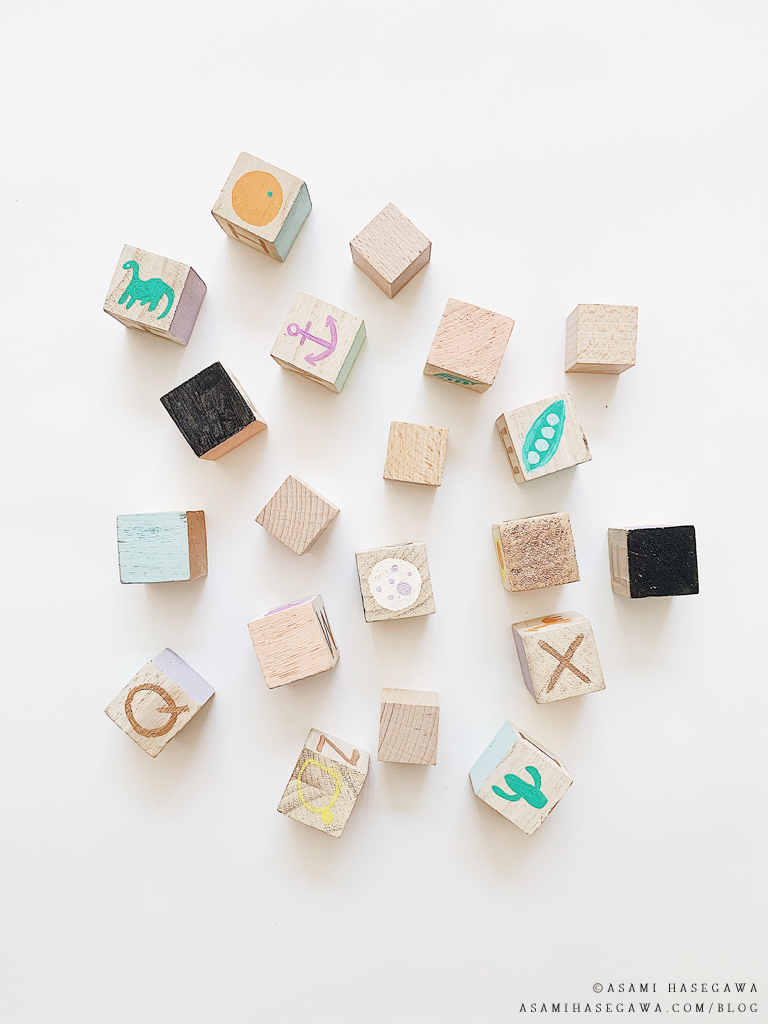 Diy Hand-painted Wooden Alphabet Blocks