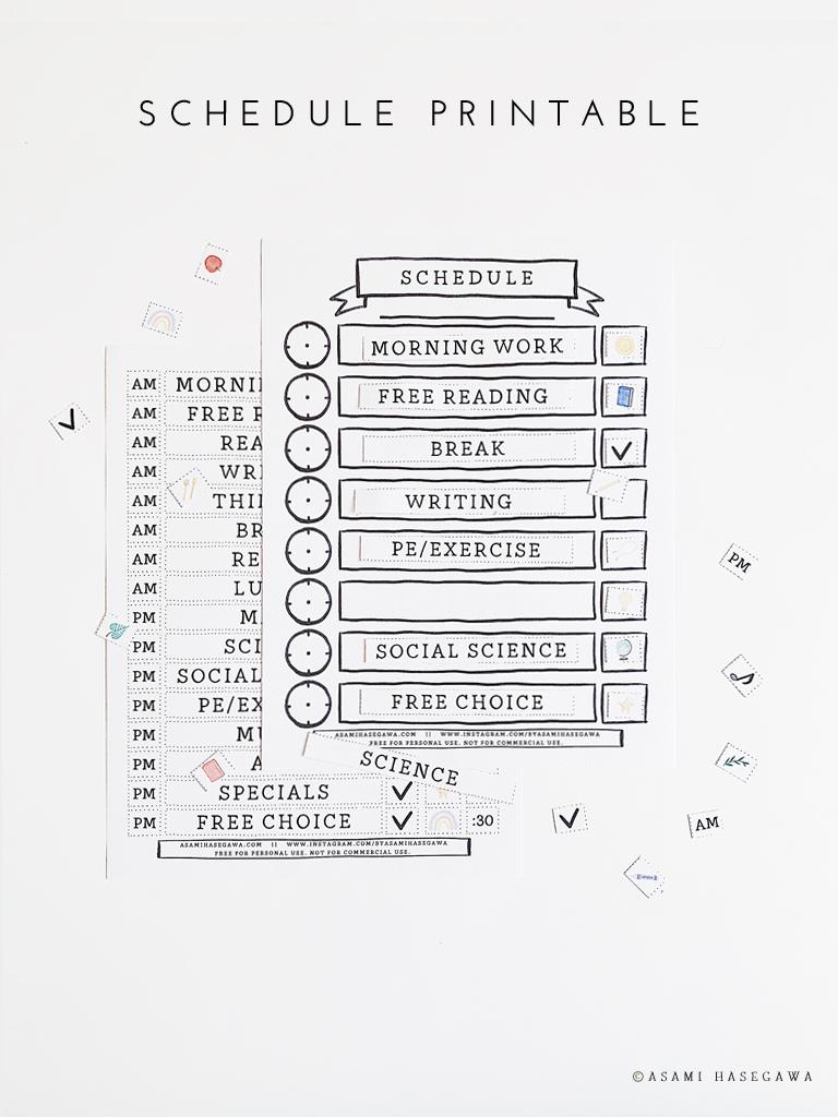 Free schedule printables