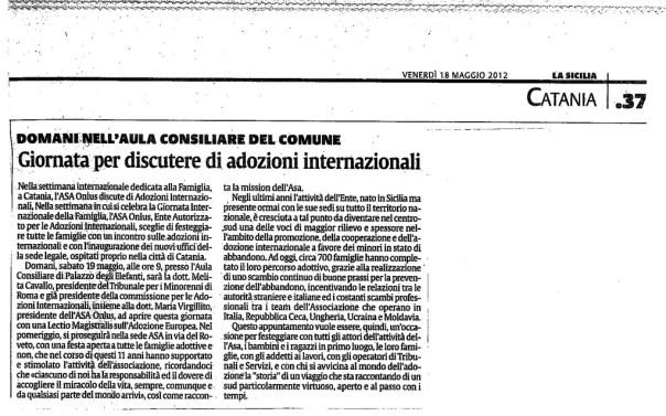 La Sicilia - venerdì 18 maggio 2012