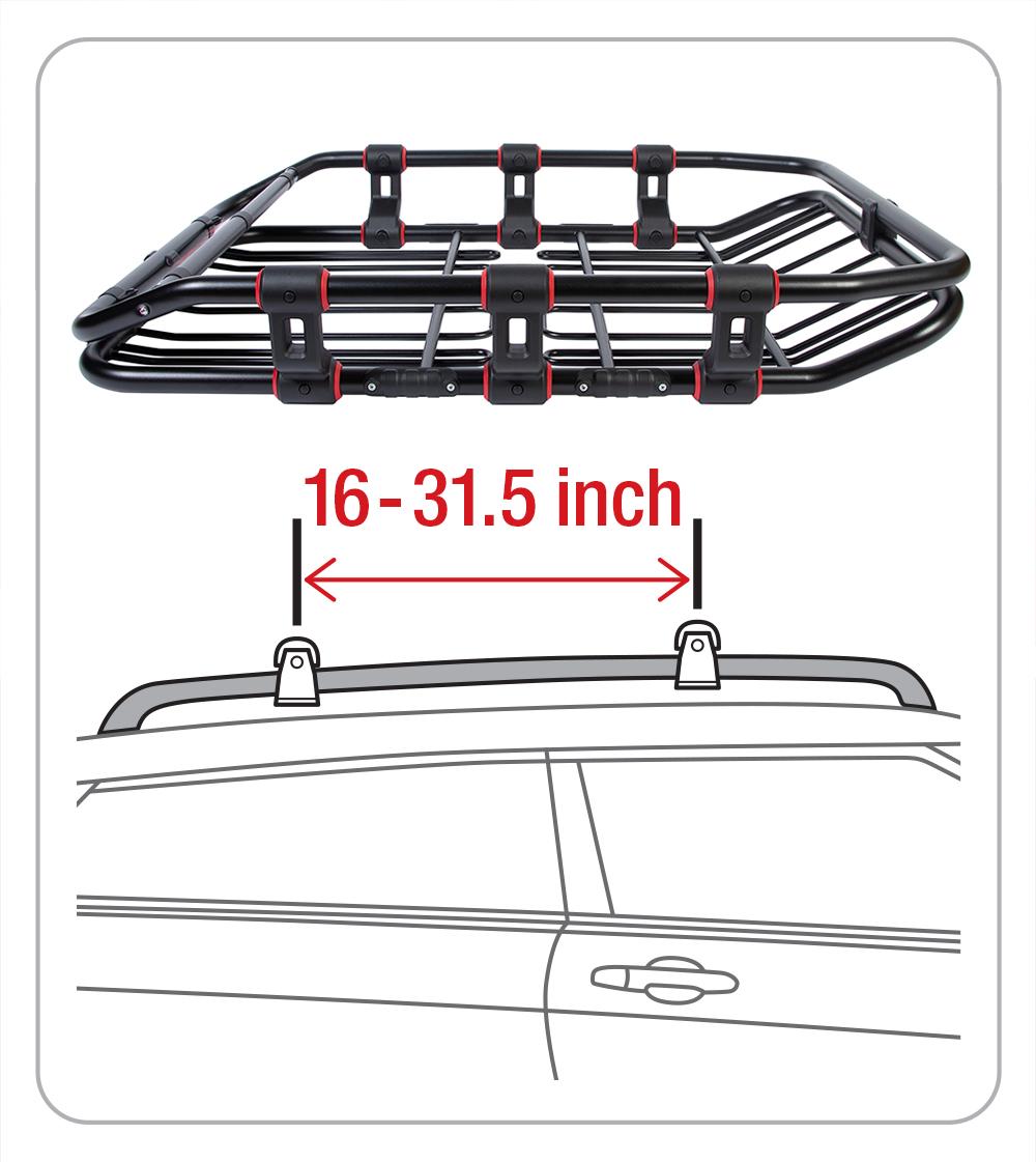 Super Duty Roof Cargo Basket L 52 Inch x W 41.3.0 Inch x H
