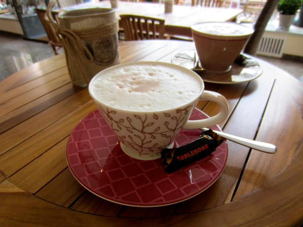 Hot chocolate at Insight Wiesbaden