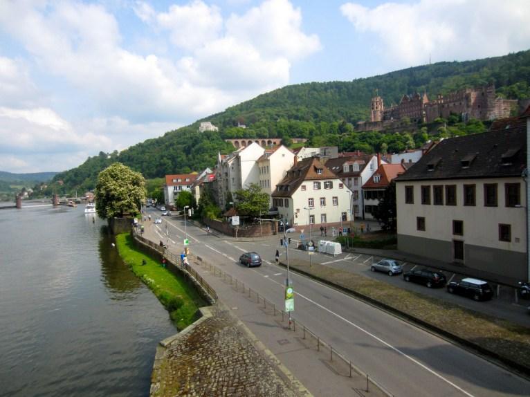 View from the Alte Brücke, Heidelberg