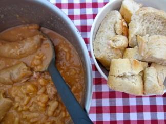 Cassoulet and baguette