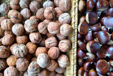 Walnuts and chestnuts