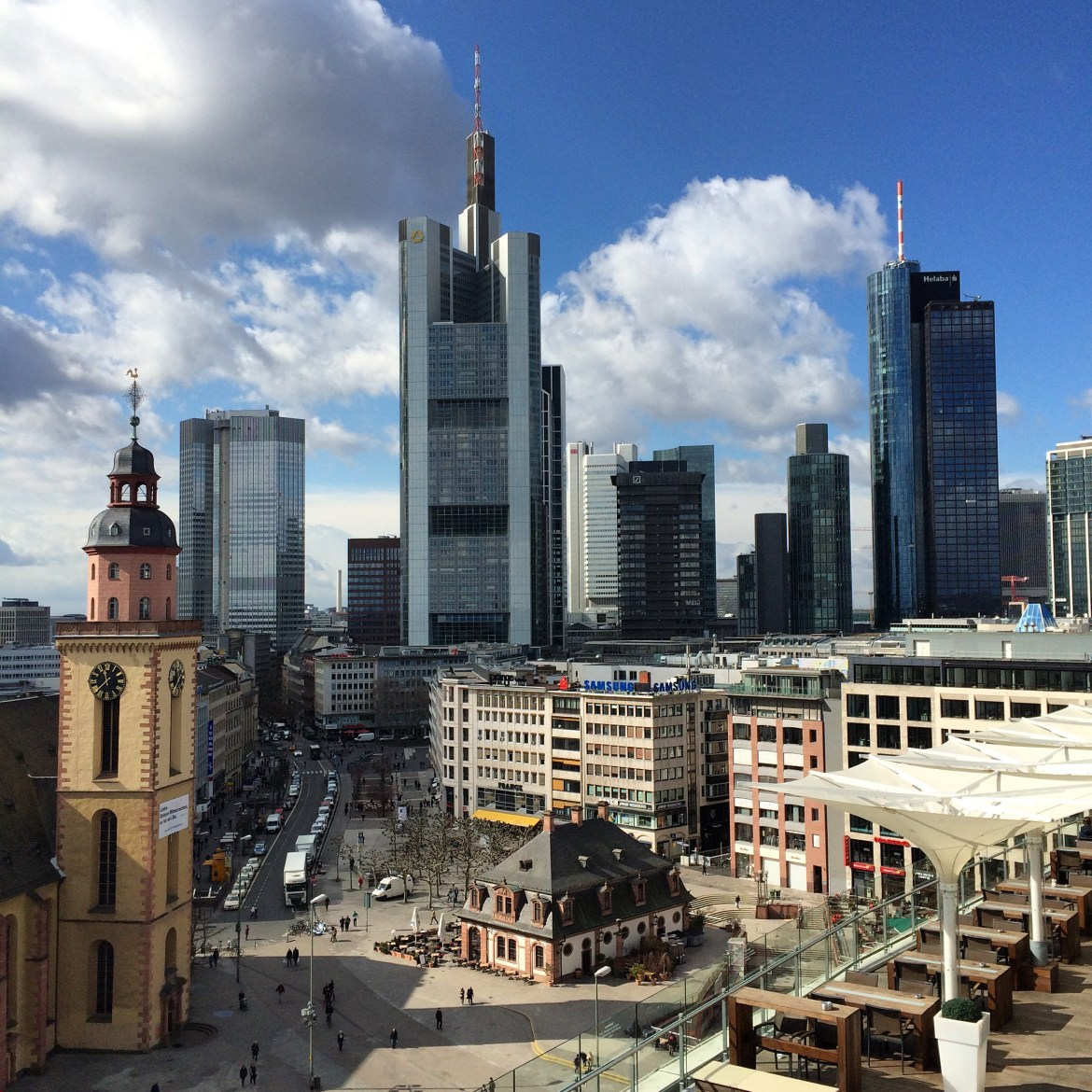 View of Frankfurt from the Zeilgalerie