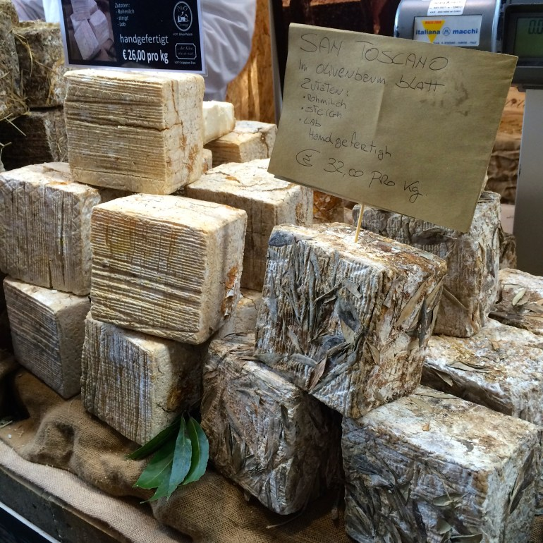 Italian cheeses at the Slow Food Messe Stuttgart 2015