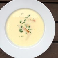 White Asparagus Cream Soup | Spargelcremesuppe (recipe)