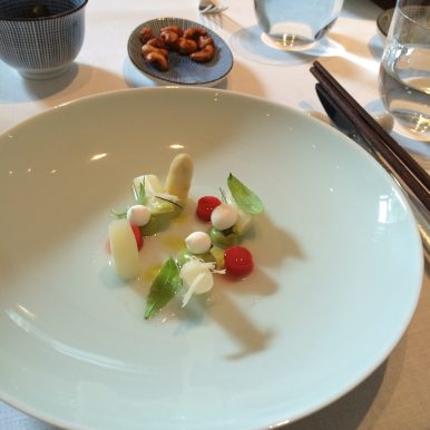 White asparagus at Tim Raue