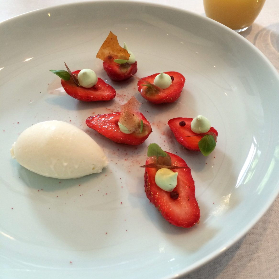 Strawberries at Tim Raue
