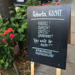 Chalkboard at Roberta Kocht