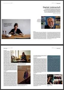 Screen grab of Christie Dietz in Sensor Magazine