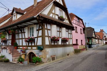 Timber-framed houses in Cleebourg, Alsace