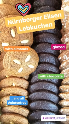 Close up of gluten-free Nürnburger Elisen Lebkuchen