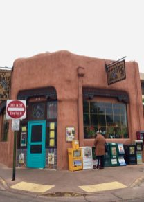 Adobe building (Cafe Pasqual's) in Santa Fe