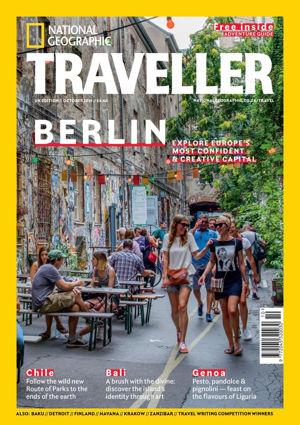 The cover of the National Geographic Traveller UK October 2019 issue