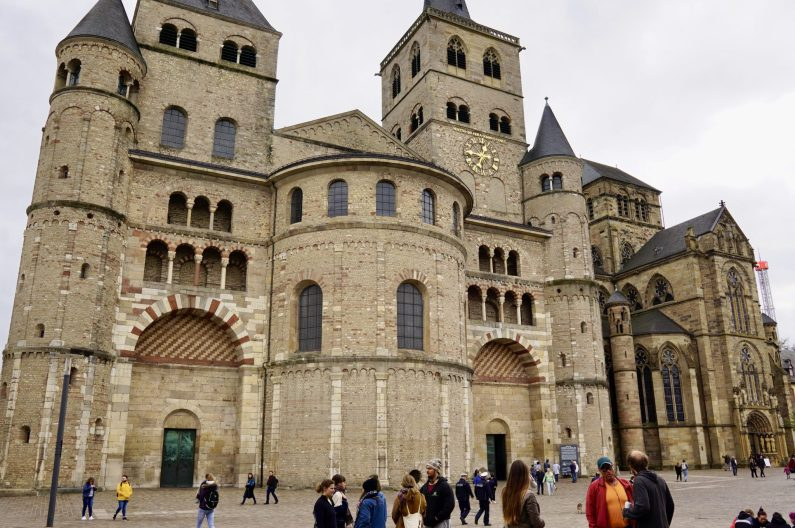 The front of the High Cathedral of St Peter, Trier