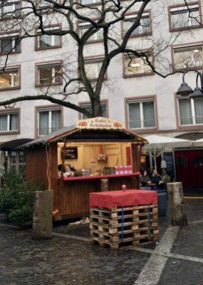 A stand selling Reibekuchen at Neubrunnenplatz