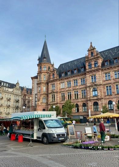 Wiesbaden Marktplatz during COVID-19