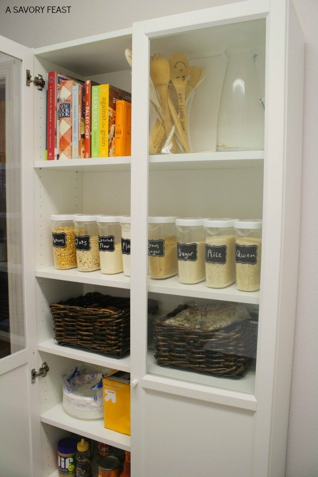 kitchen pantries glass subway tile ikea billy bookcase pantry hack 2