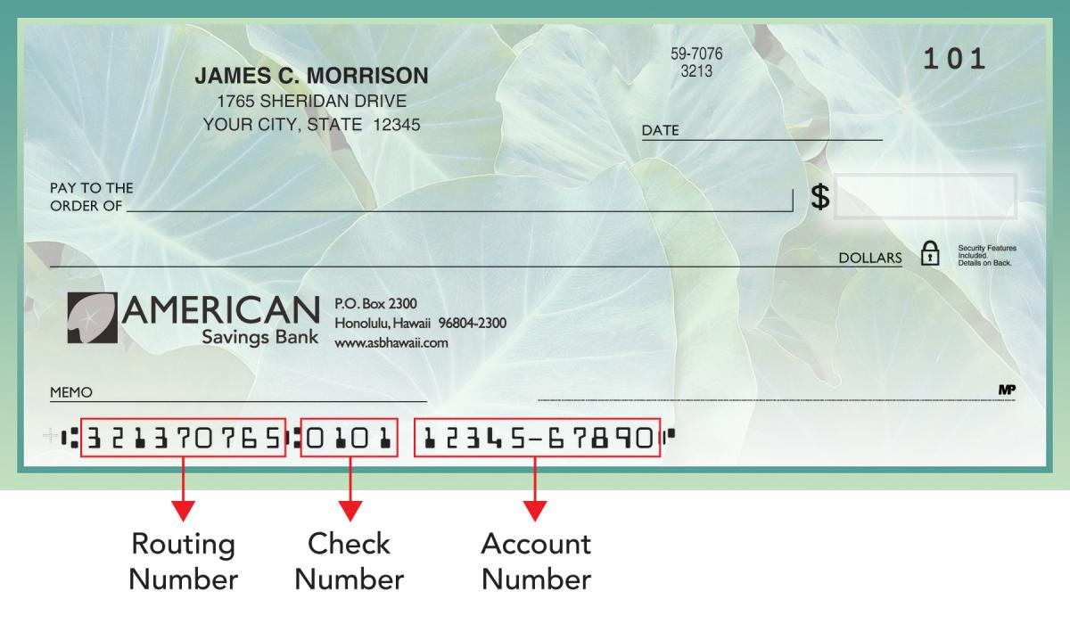 Routing Number American Savings Bank Hawaii
