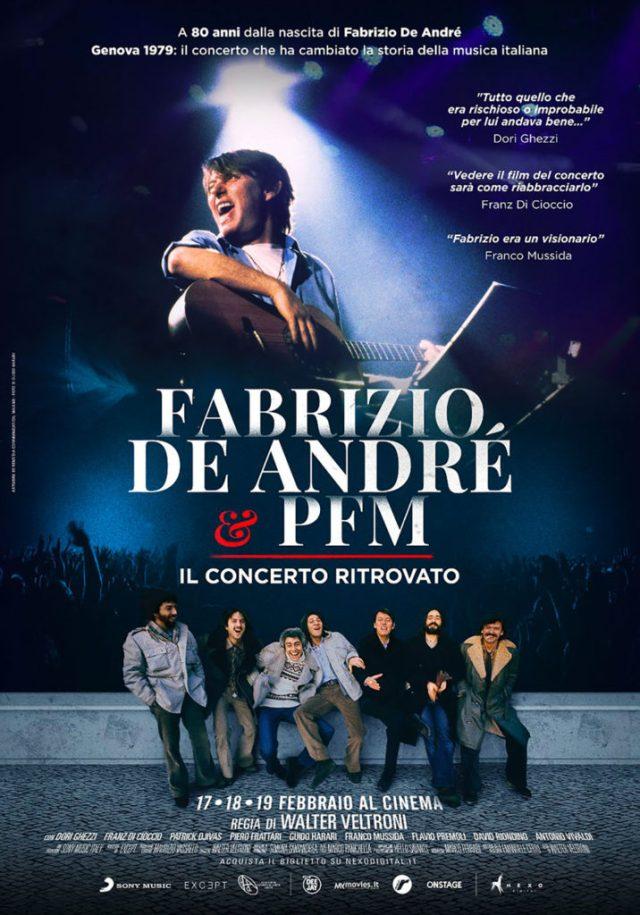 Fabrizio De André e PFM. Il concerto ritrovato poster locandina