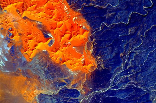 Image of the Sahara desert from space
