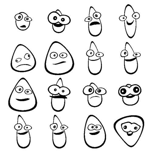 evolving cartoon faces