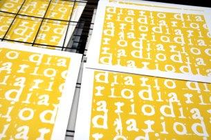 DIARIOS IV/X - Diarios - Screen printing - Detail - (Ascanio Cuba)