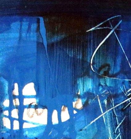 BLUE - Mix on canvas - Detail (Ascanio Cuba)