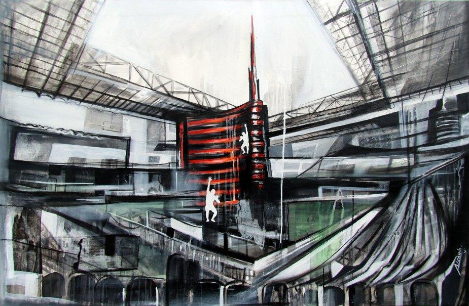 FIELD CENTER - Mix on canvas - (Ascanio Cuba)