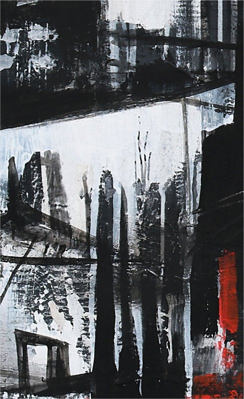 SCALANDO - Mix on canvas - Detail - (Ascanio Cuba)